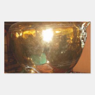 Golden tea Pot Rectangular Sticker