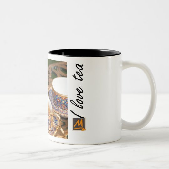 Golden tea Two-Tone coffee mug