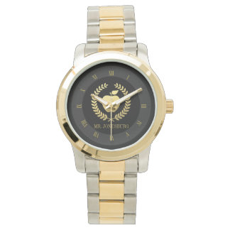 Golden Teacher Apple Faux Gold Custom Name Watch