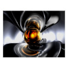 Golden Tears Abstract Poster
