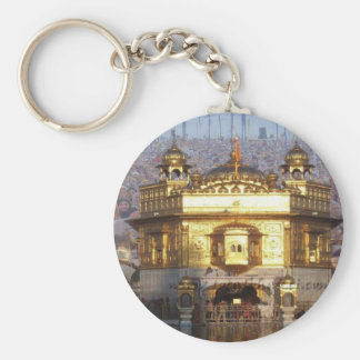 GOLDEN TEMPLE BASIC ROUND BUTTON KEY RING