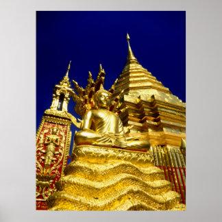 Golden Temple - Chiang Mai - Thailand Print