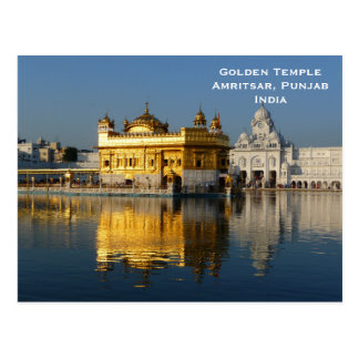 Golden Temple India Vintage Tourism Travel Add Postcard