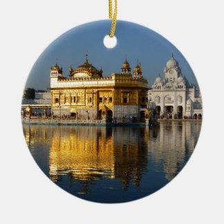 Golden Temple Round Ceramic Decoration