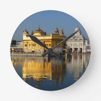 Golden Temple Round Clock