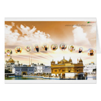 GOLDEN TEMPLE WITH THE SIKH GURUS CARD