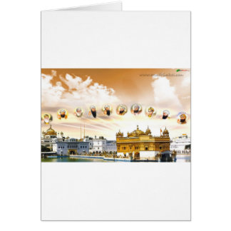 GOLDEN TEMPLE WITH THE SIKH GURUS GREETING CARD