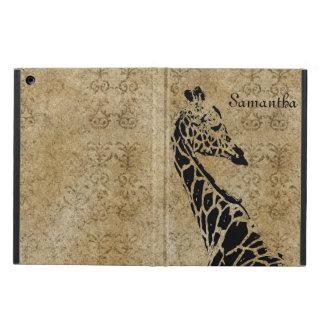 Golden Textured Giraffe iPad Air Cover