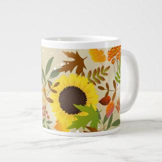 Golden Thanksgiving 20 Oz Large Ceramic Coffee Mug Jumbo Mug