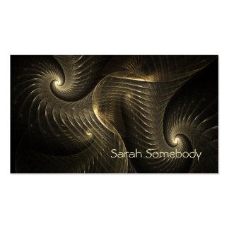 Golden Thread Spiral Fractal Art Pack Of Standard Business Cards