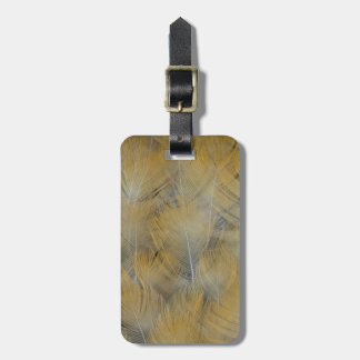 Golden Thrush Feather Abstract Luggage Tag