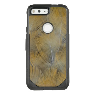 Golden Thrush Feather Abstract OtterBox Commuter Google Pixel Case