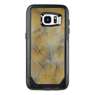 Golden Thrush Feather Abstract OtterBox Samsung Galaxy S7 Edge Case