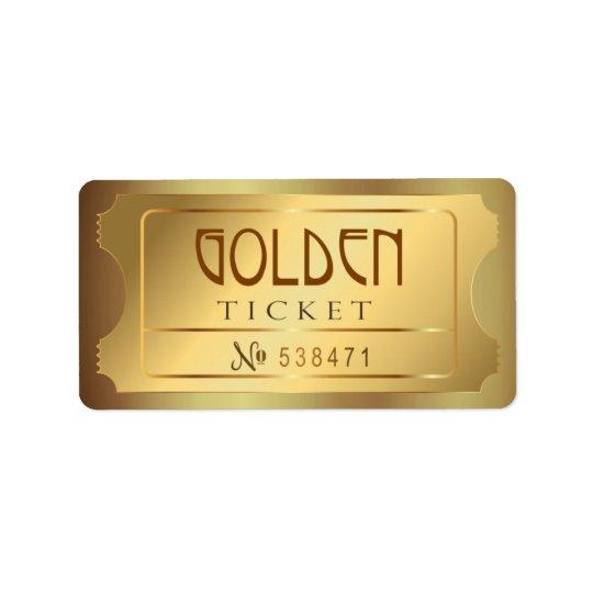 Golden Ticket Admit One Stars Free Entry Vintage