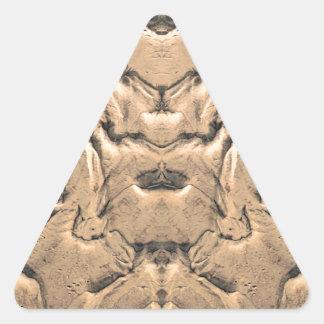 Golden Tidal Sands Triangle Sticker