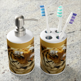 Golden Tiger Bathroom Set