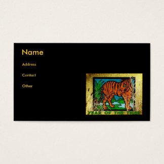 Golden Tiger Business Card