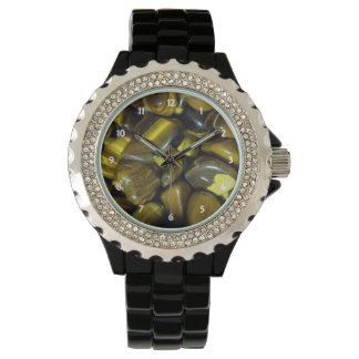 Golden Tiger Eye Stones Watch