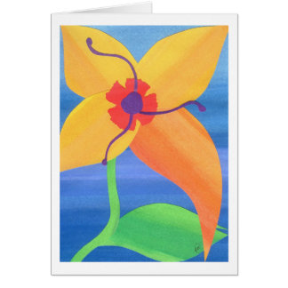 Golden Tiger Lily Card