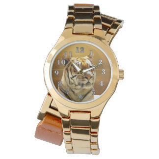 Golden Tiger Wristwatch