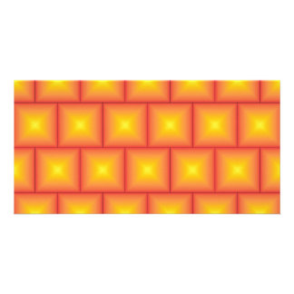 Golden tiles pattern picture card
