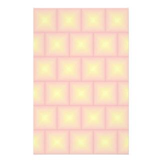 Golden tiles pattern customised stationery