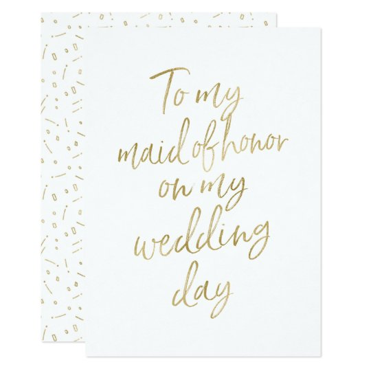 """Golden """"To my maid of honor on my"""