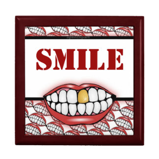 Golden Tooth Smile Box Large Square Gift Box