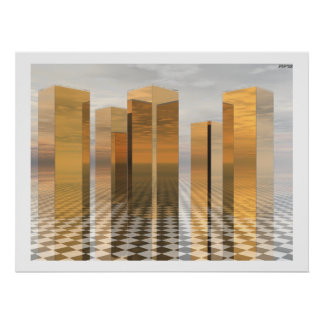 Golden Towers Print