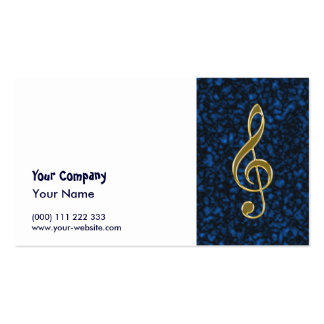 Golden treble clef business card