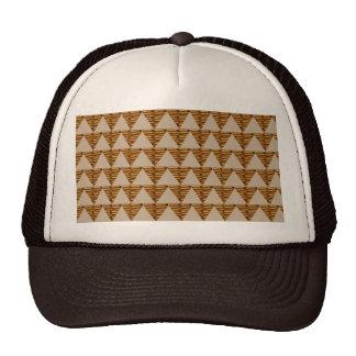 GOLDEN Triangle STRIPS: from VINTAGE Art Trucker Hat
