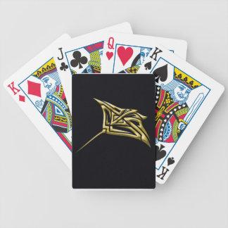 Golden Tribal Stingray Poker Deck