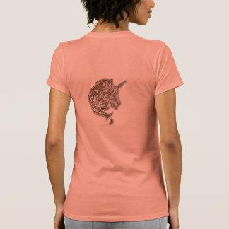 Golden tribal unicorn womens shirt
