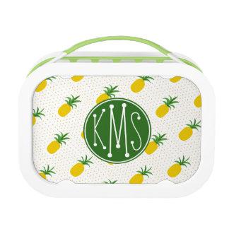 Golden Tropical Pineapples | Monogram Lunch Box