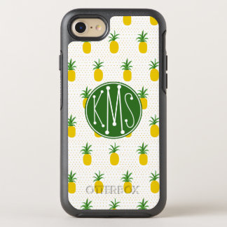 Golden Tropical Pineapples | Monogram OtterBox Symmetry iPhone 8/7 Case