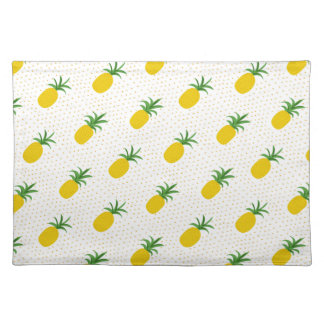 Golden Tropical Pineapples Placemat