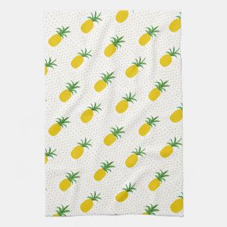 Golden Tropical Pineapples Tea Towel
