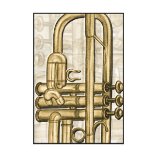 Golden Trumpet Canvas Print