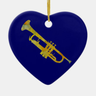 Golden Trumpet Christmas Ornament