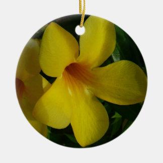 Golden Trumpet Flower Ornament