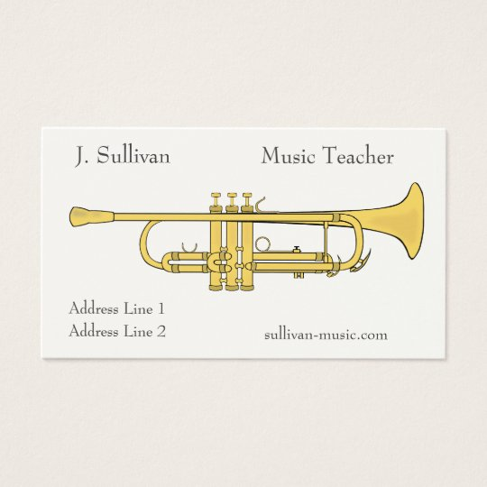 Golden Trumpet Music Theme Business Card