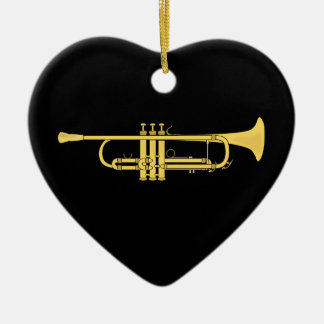 Golden Trumpet Music Theme Christmas Tree Ornaments