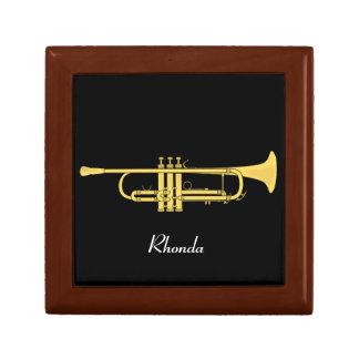 Golden Trumpet Music Theme Gift Box