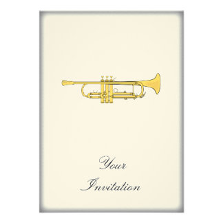 Golden Trumpet Music Theme Custom Invite