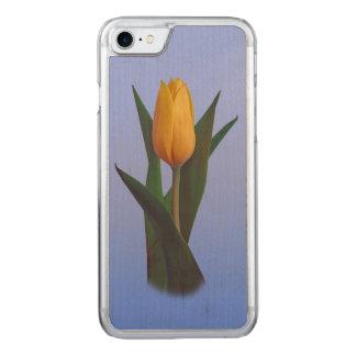 Golden Tulip Flower Carved iPhone 8/7 Case