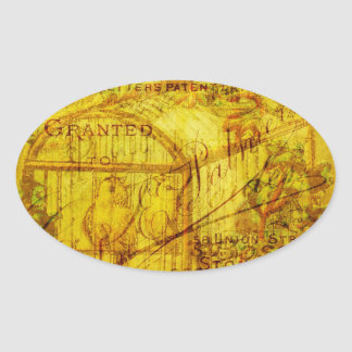 Golden Tweets Oval Stickers