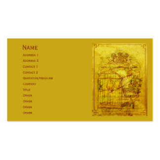 Golden Tweets Pack Of Standard Business Cards