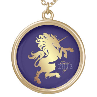 Golden Unicorn Class of Graduation Necklace