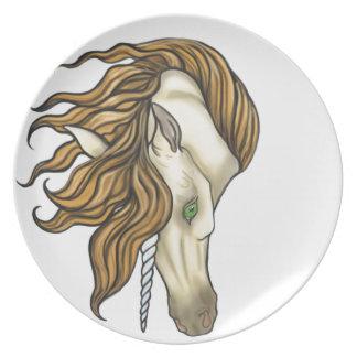 Golden Unicorn Dinner Plate