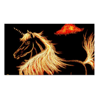 golden unicorn dreams pack of standard business cards
